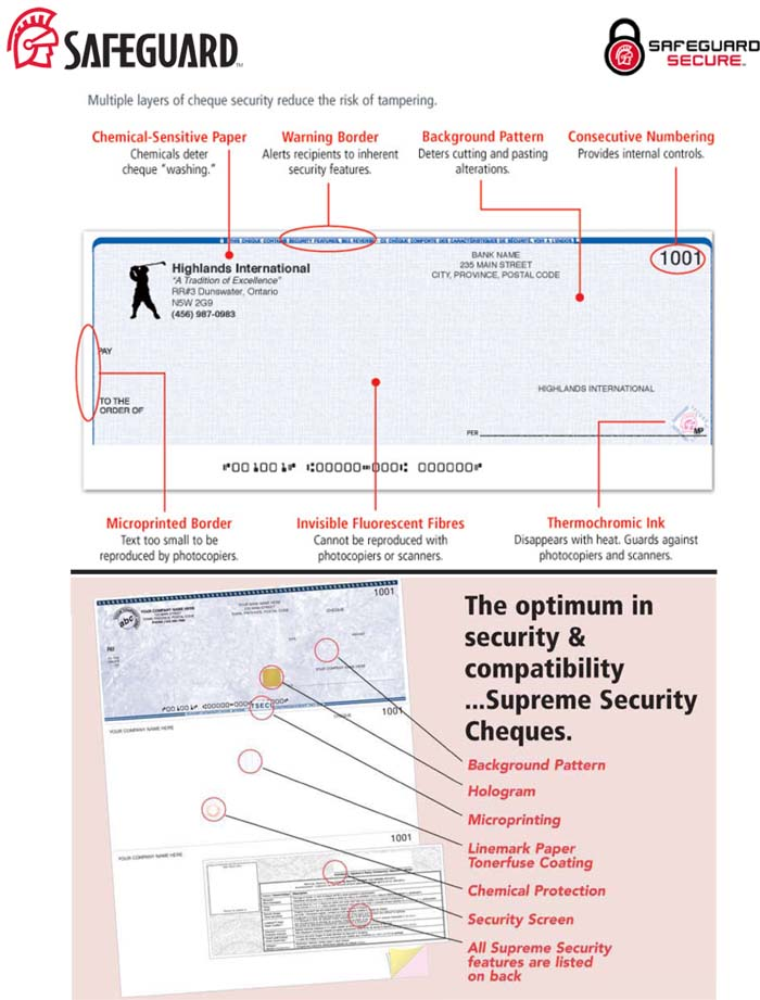 Cheque Security Features