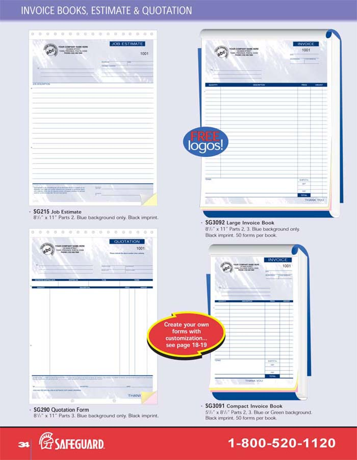 Manual Invoice & Quotation Books
